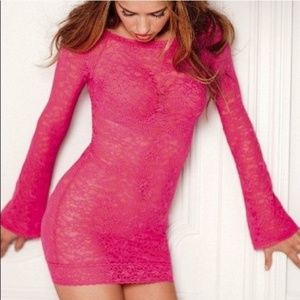 Victoria's Secret VS ALL LACE MINI DRESS XS LACIE